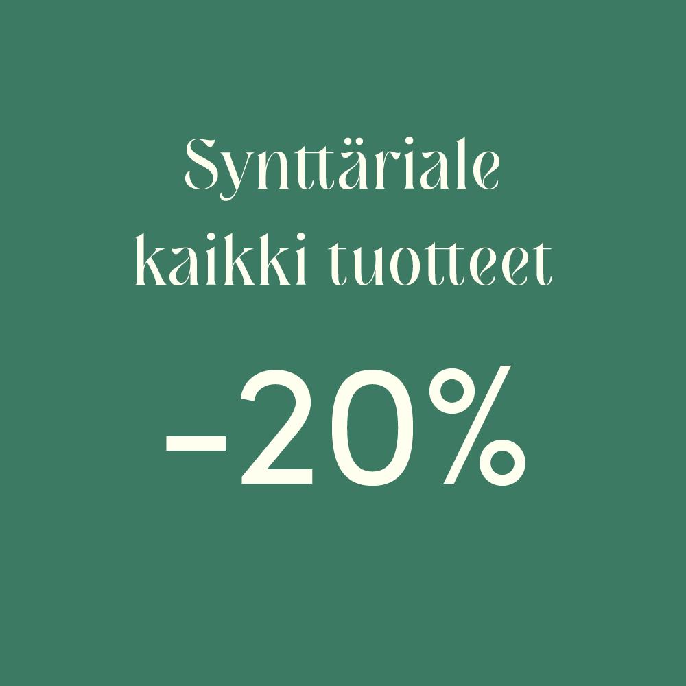 Synttäriale -20%!